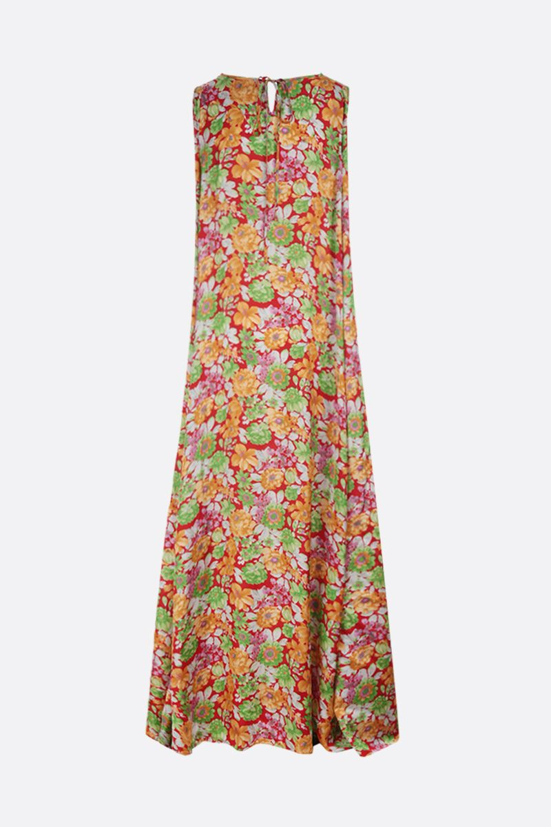PLAN C: floral print satin sleeveless dress Color Multicolor_2