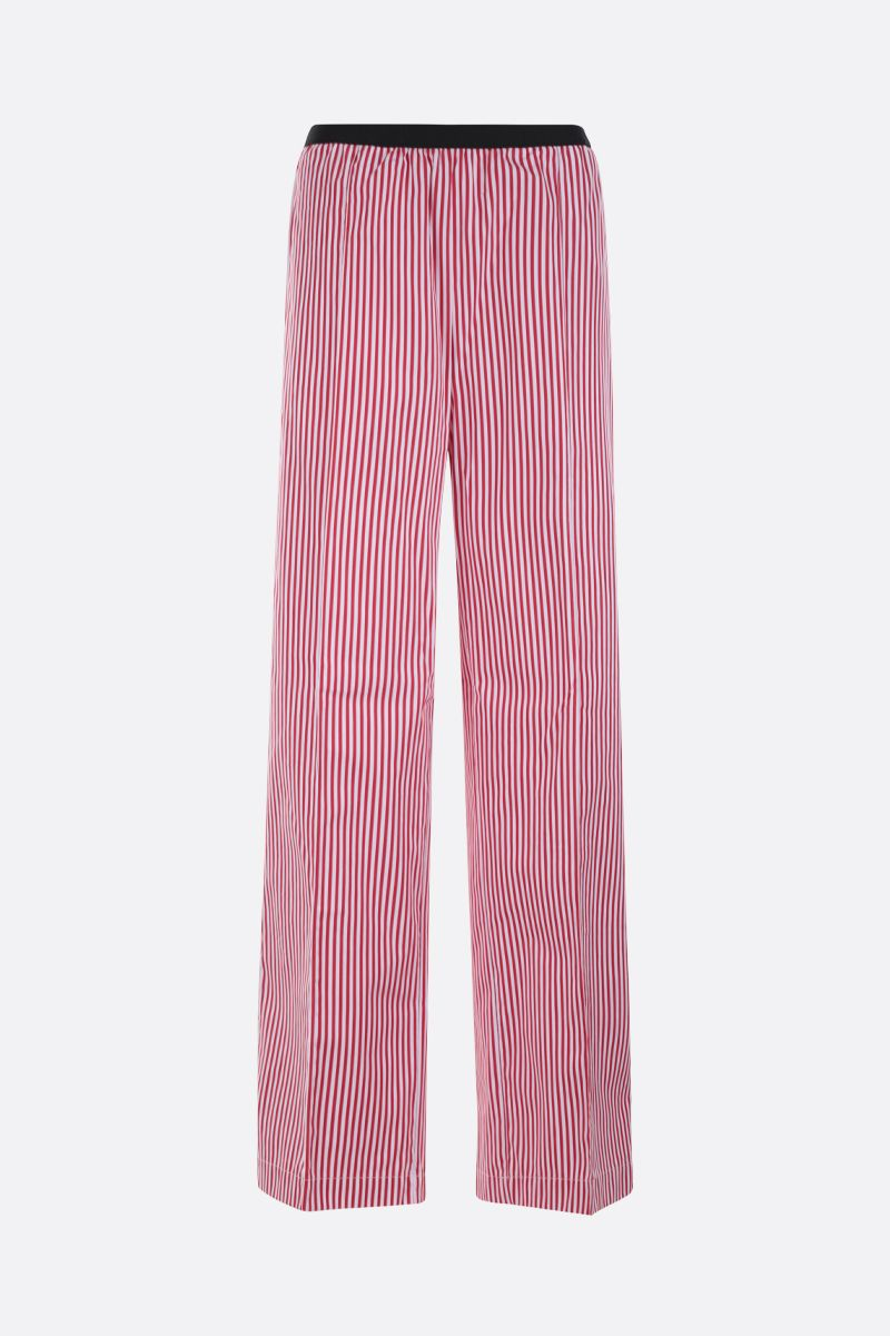 PLAN C: striped poplin wide-leg pants Color Red_1
