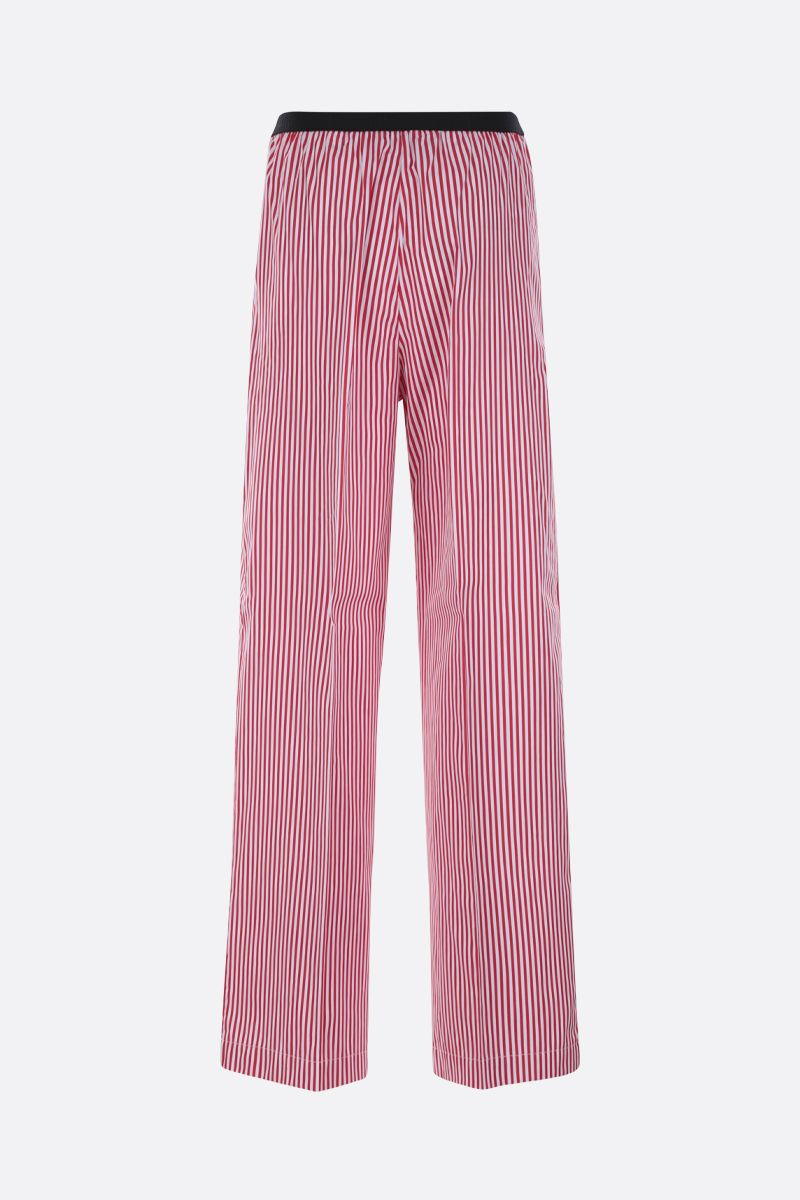 PLAN C: striped poplin wide-leg pants Color Red_2