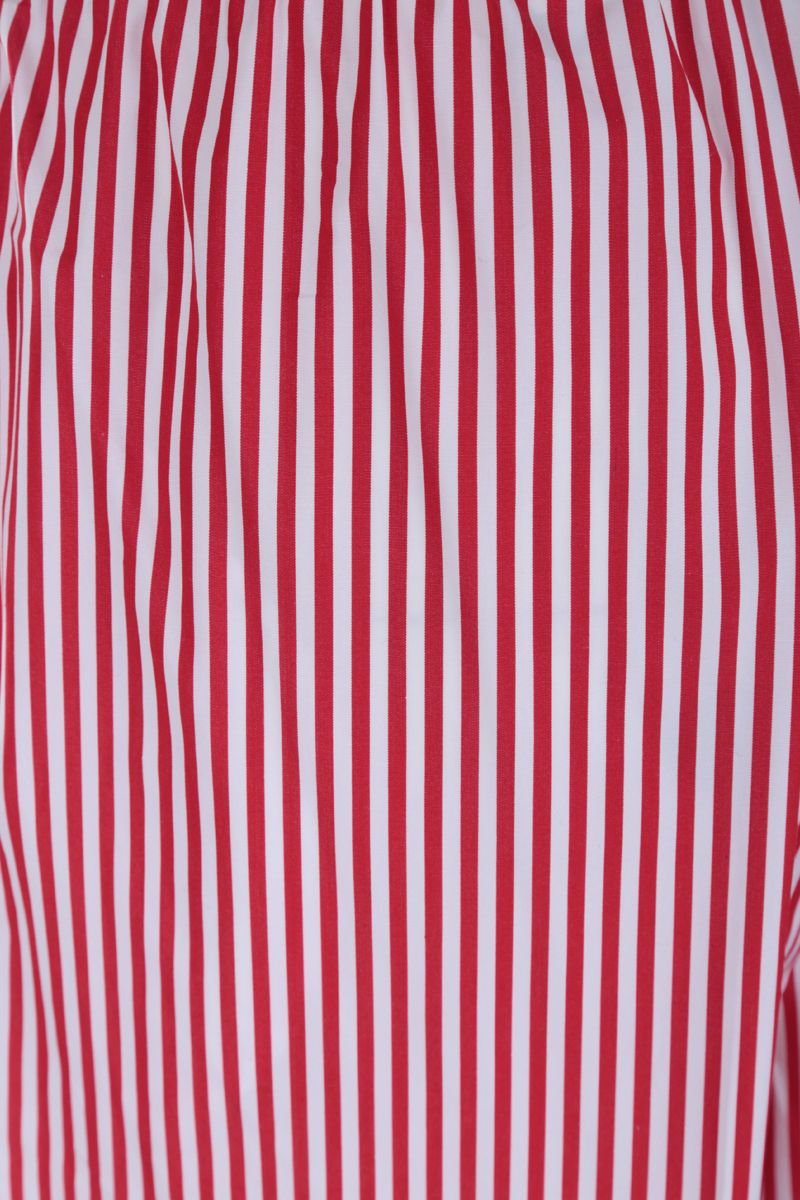 PLAN C: striped poplin wide-leg pants Color Red_3