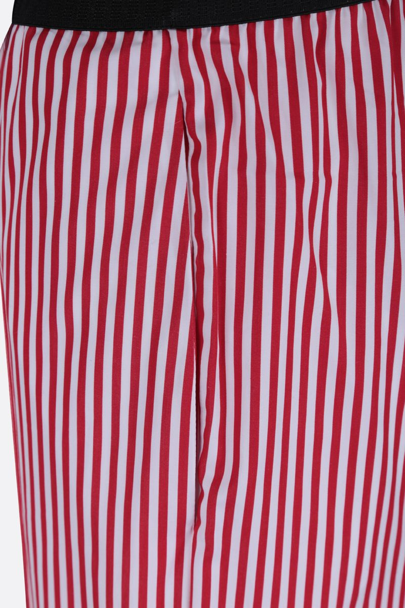 PLAN C: striped poplin wide-leg pants Color Red_4
