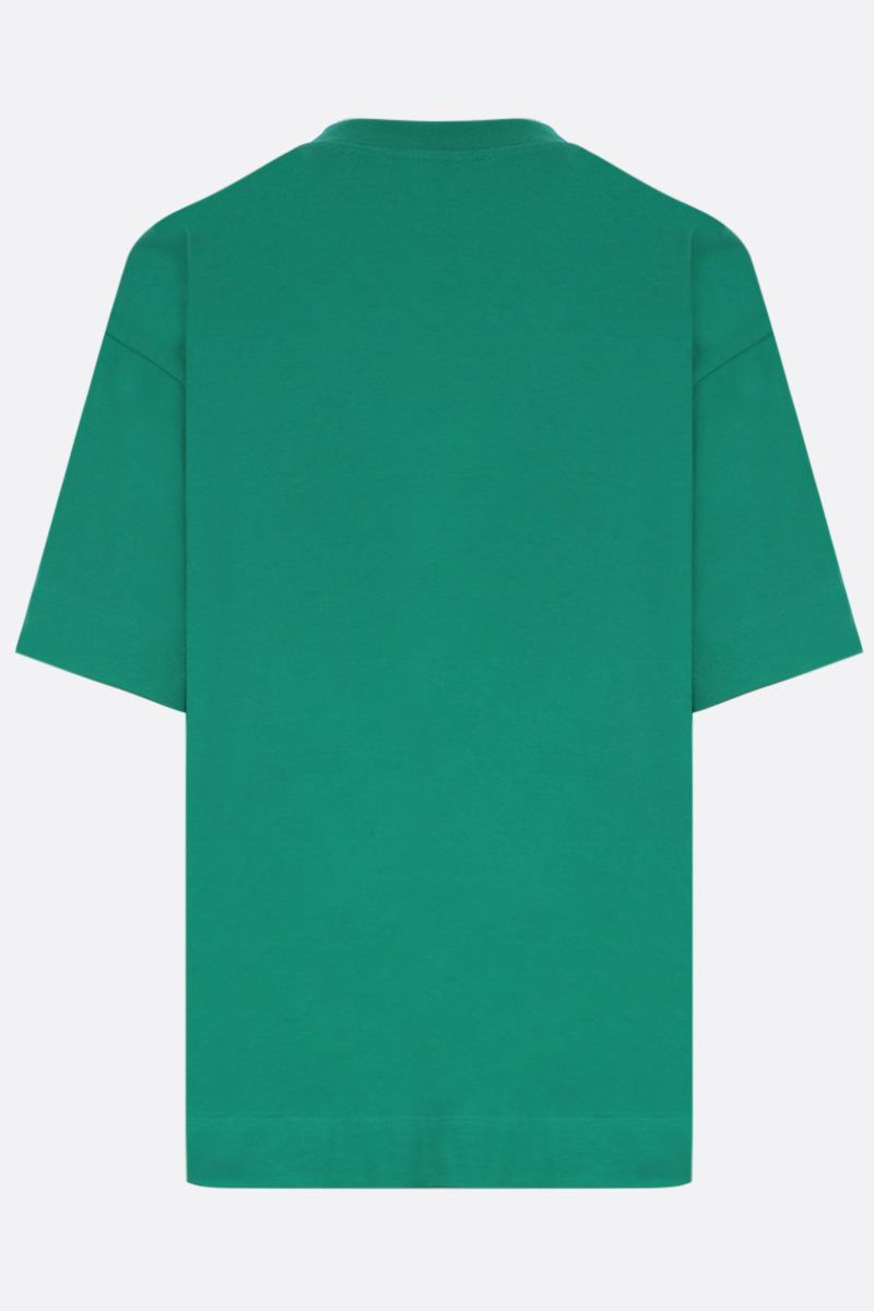 PLAN C: graphic printed cotton t-shirt Color Green_2