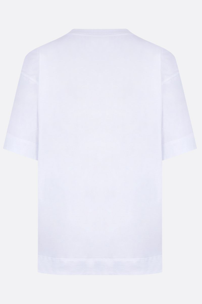 PLAN C: Pili print cotton jersey t-shirt Color White_2