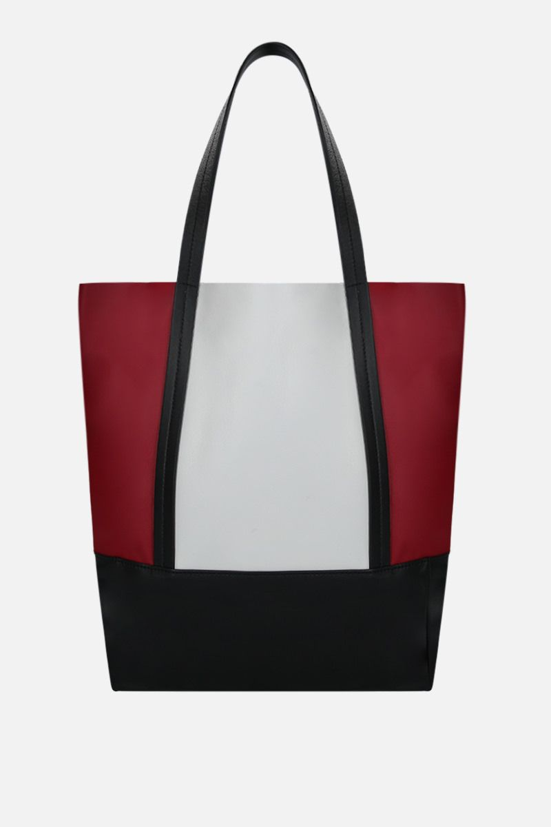 PLAN C: borsa shopping small in nappa colour-block Colore Rosso_1