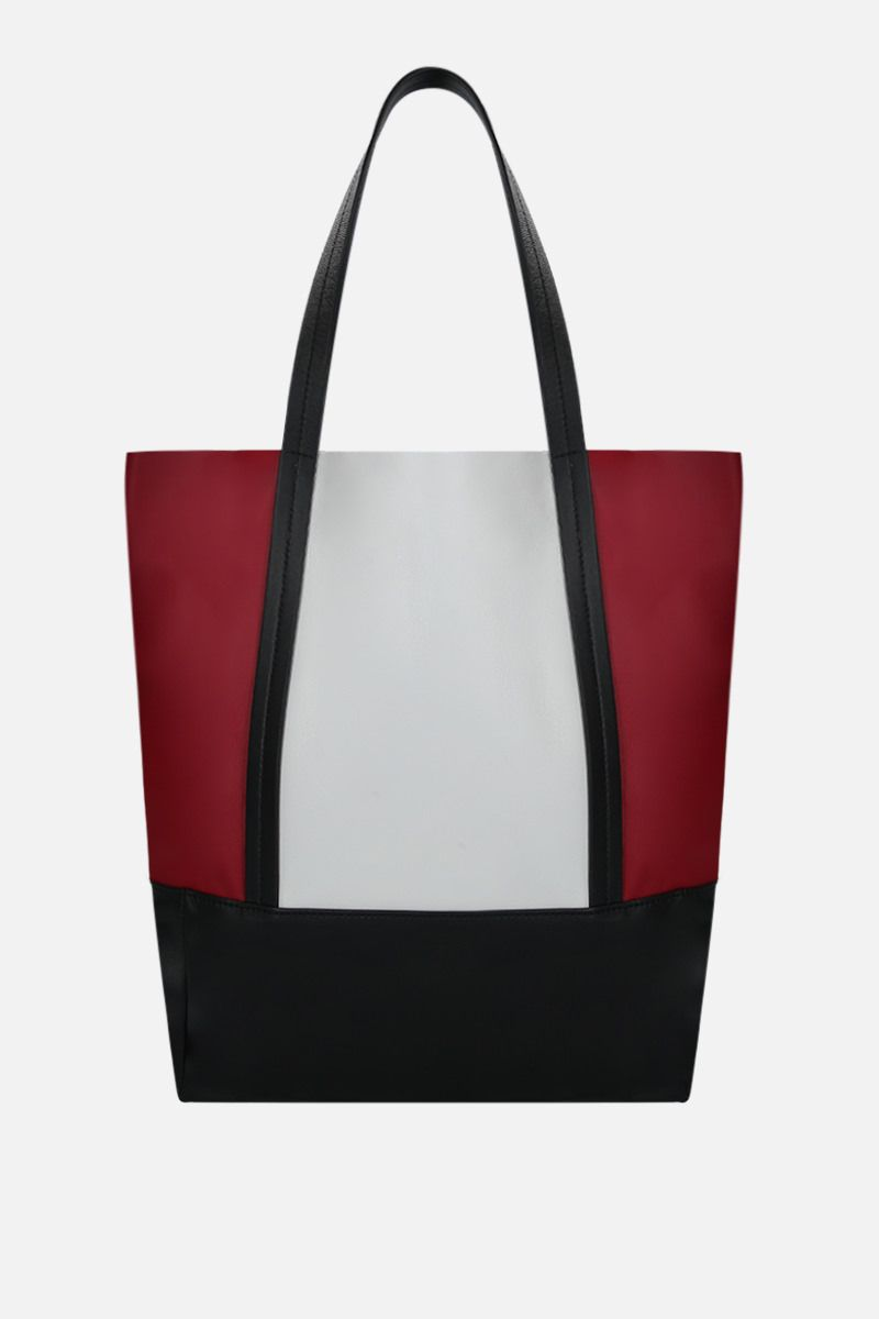 PLAN C: colour-block nappa small shopping bag Color Red_3