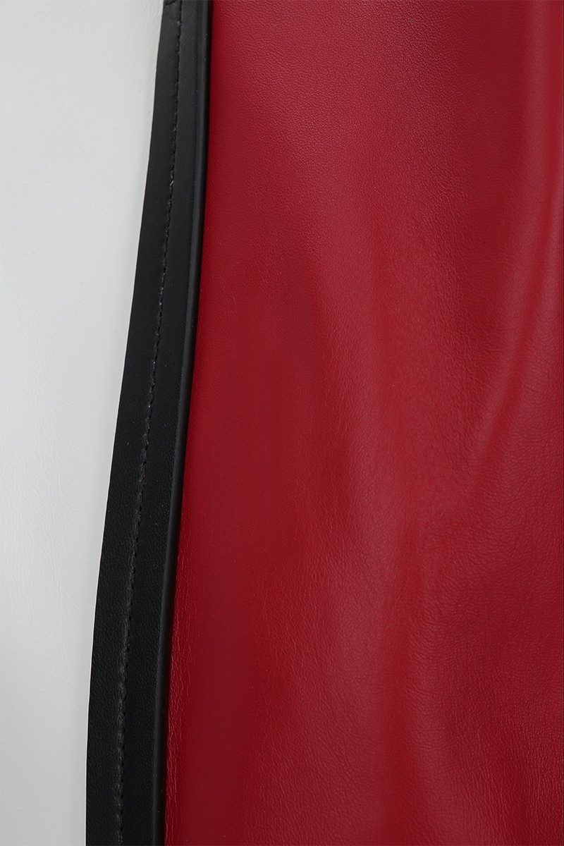 PLAN C: colour-block nappa small shopping bag Color Red_4