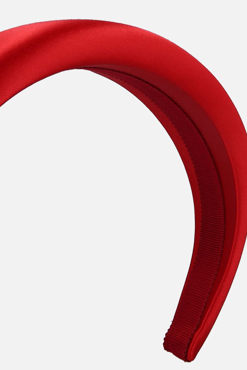 PRADA: satin padded headband Color Red_2