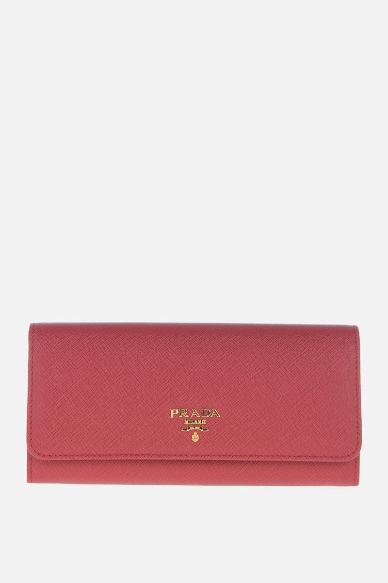PRADA: Saffiano leather continental wallet Color Red_1
