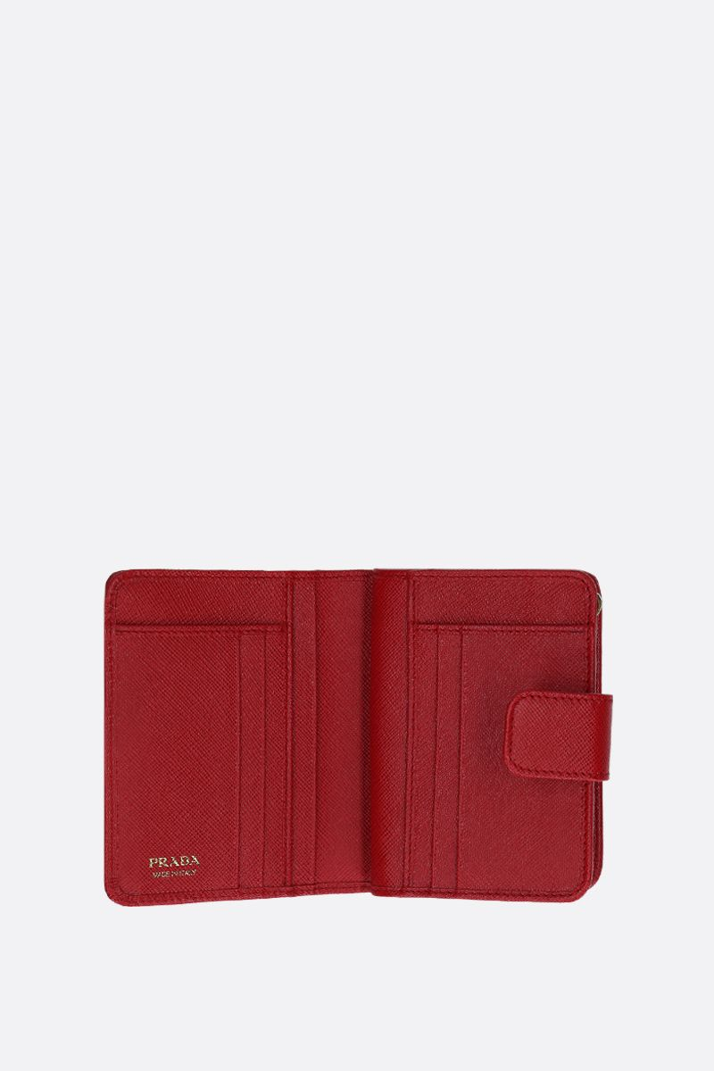 PRADA: Saffiano leather small wallet Color Red_2