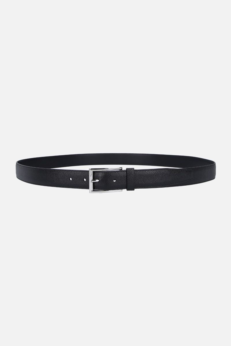 PRADA: Saffiano leather classic belt Color Black_1