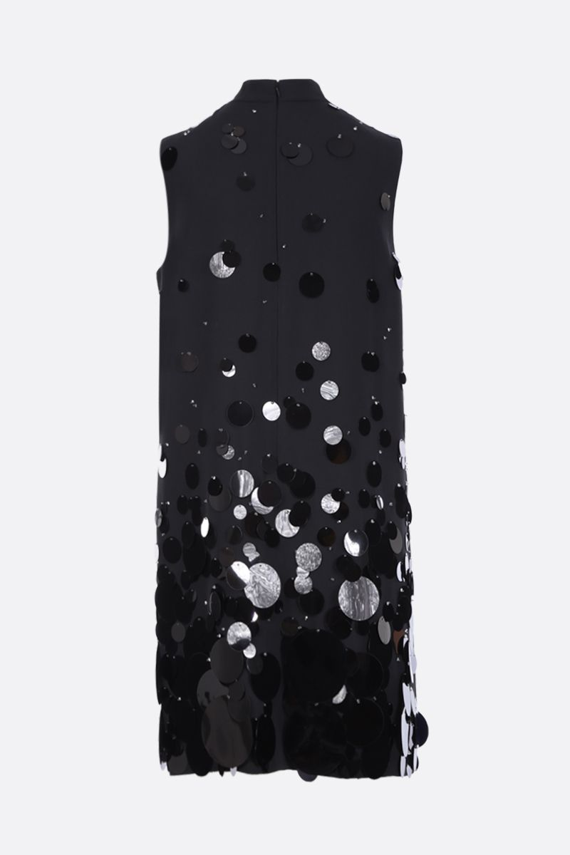 PRADA: sequinned sablè sleeveless dress Color Black_2