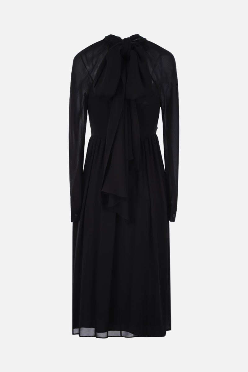 PRADA: sablè crepe midi dress Color Black_2