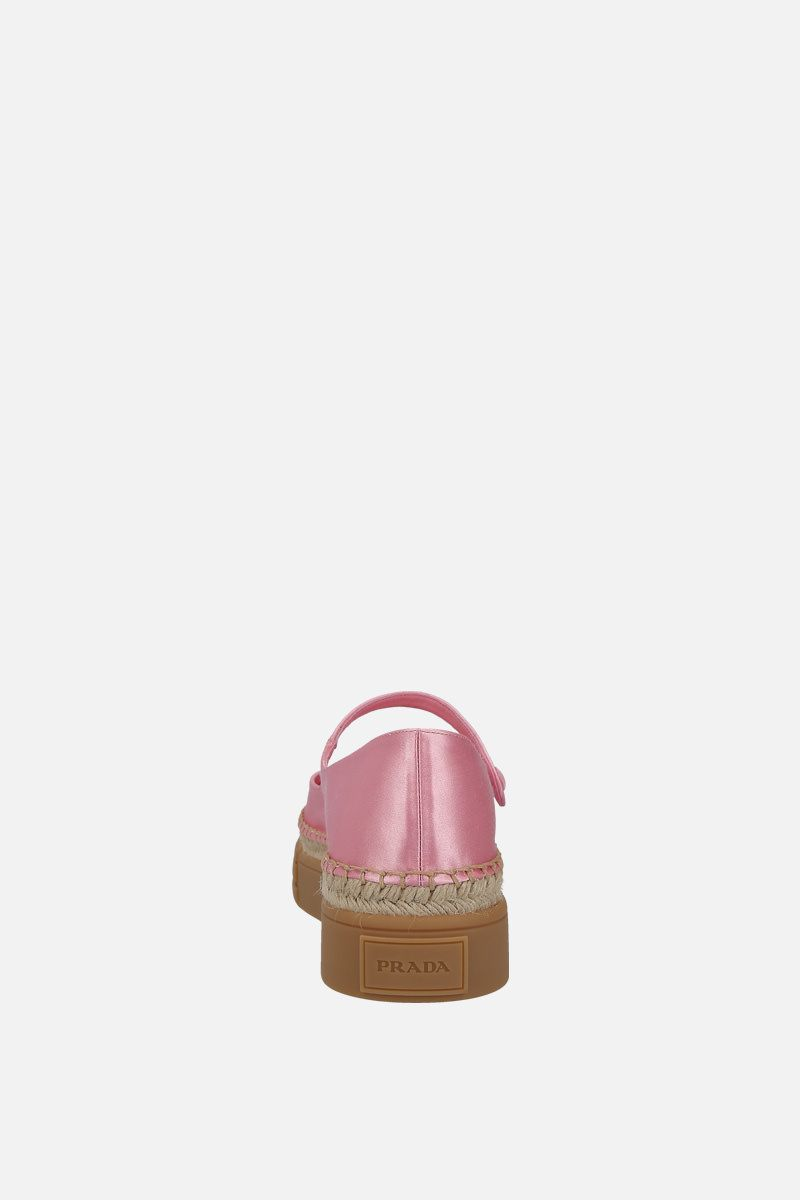PRADA: shiny satin flatform ballerinas Color Pink_3