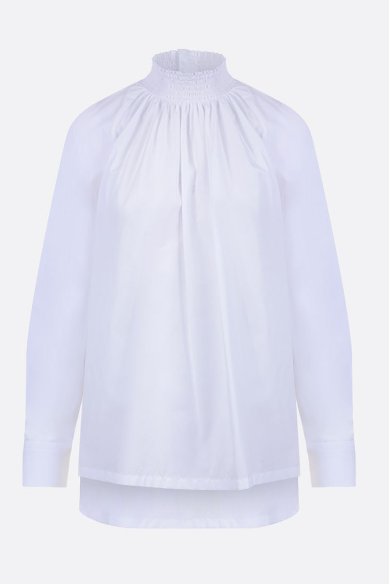 PRADA: compact poplin blouse Color White_1