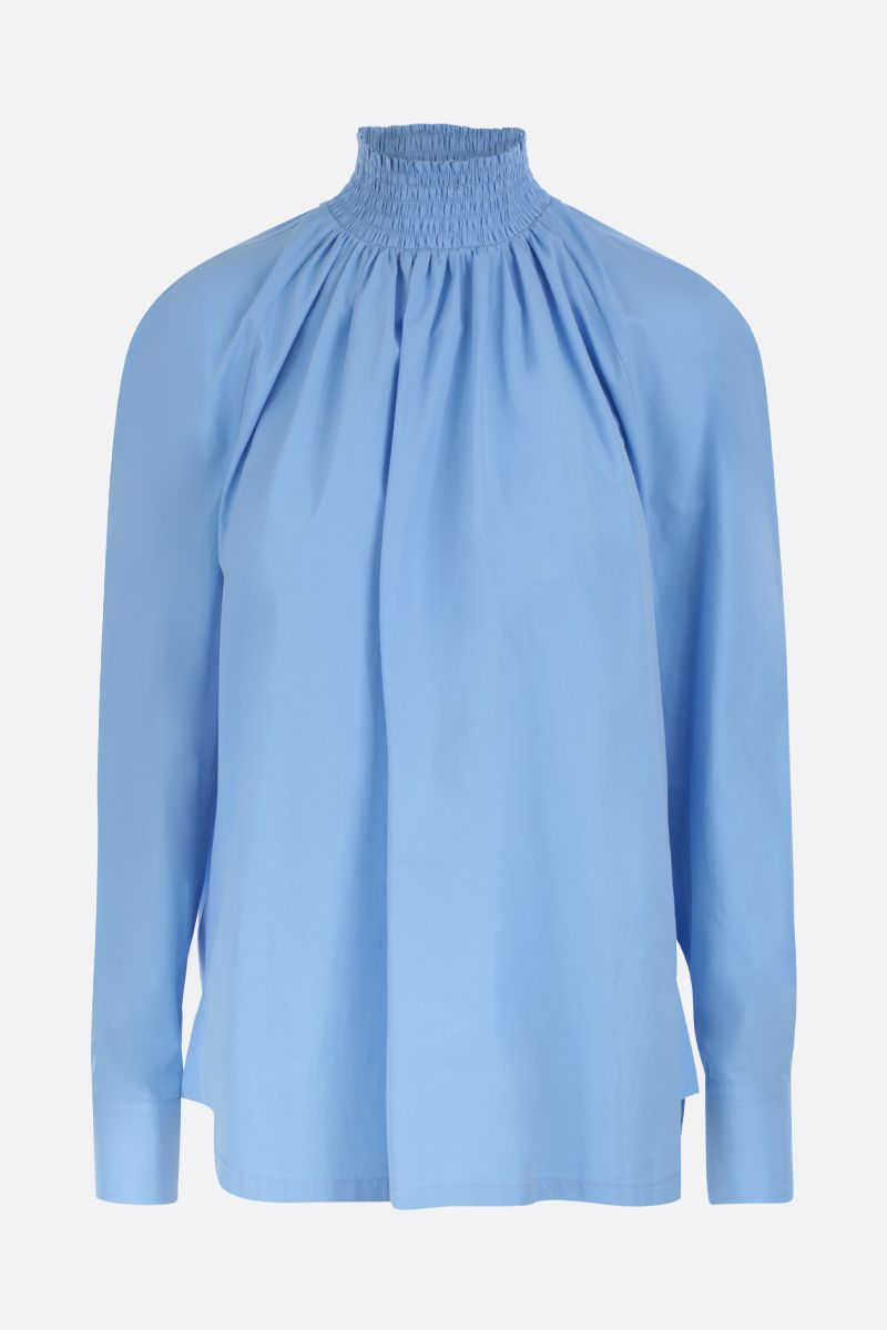 PRADA: compact poplin blouse Color Blue_1