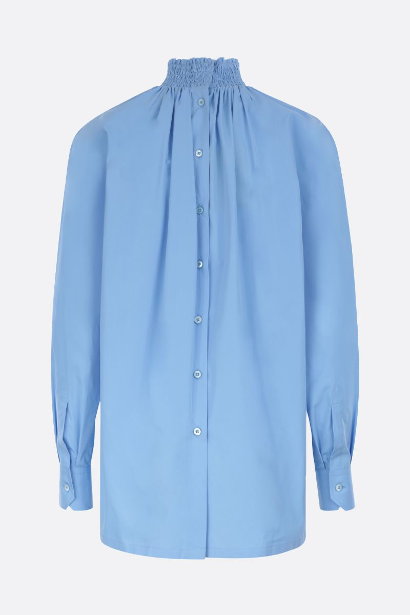 PRADA: compact poplin blouse Color Blue_2
