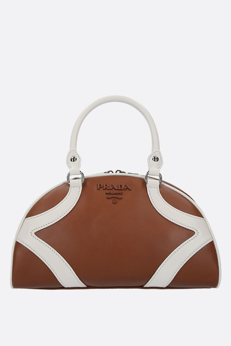 PRADA: Prada Bowling bicolour leather handbag_1