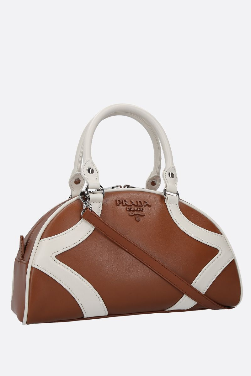 PRADA: Prada Bowling bicolour leather handbag_2