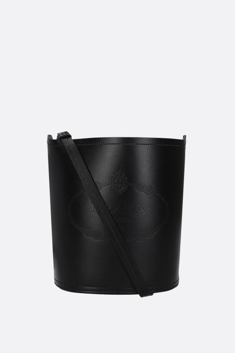 PRADA: City leather bucket bag Color Black_2
