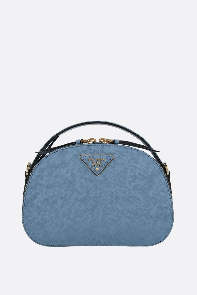 PRADA: Prada Odette handbag in Saffiano leather Color Blue_1