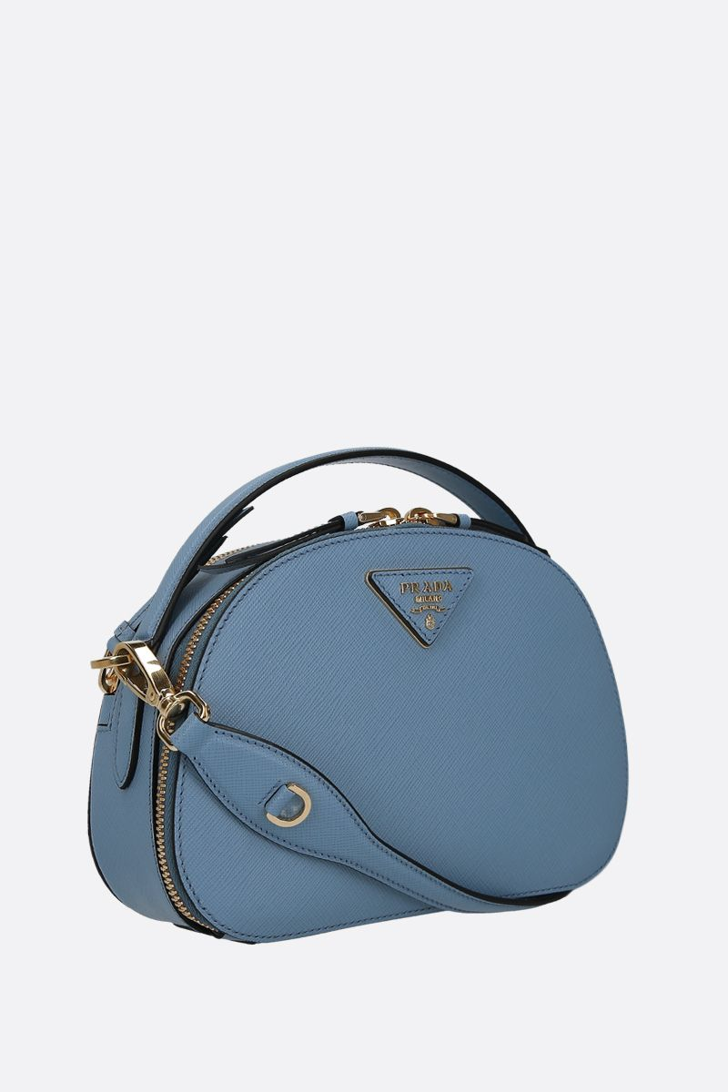 PRADA: Prada Odette handbag in Saffiano leather Color Blue_2