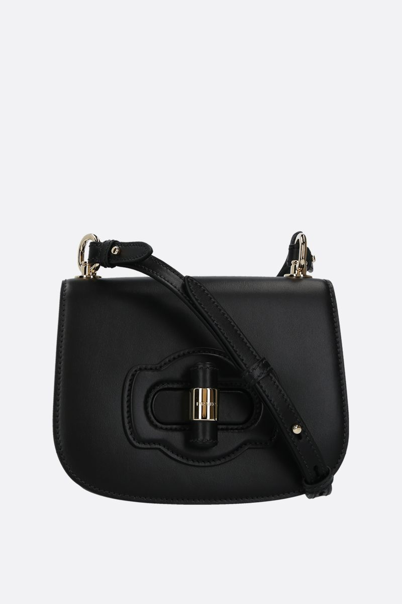 PRADA: City leather shoulder bag Color Black_1