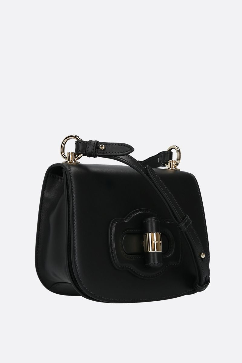 PRADA: City leather shoulder bag Color Black_2