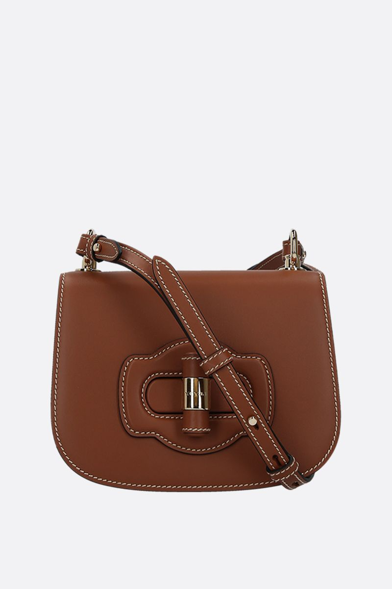 PRADA: City leather shoulder bag Color Brown_1