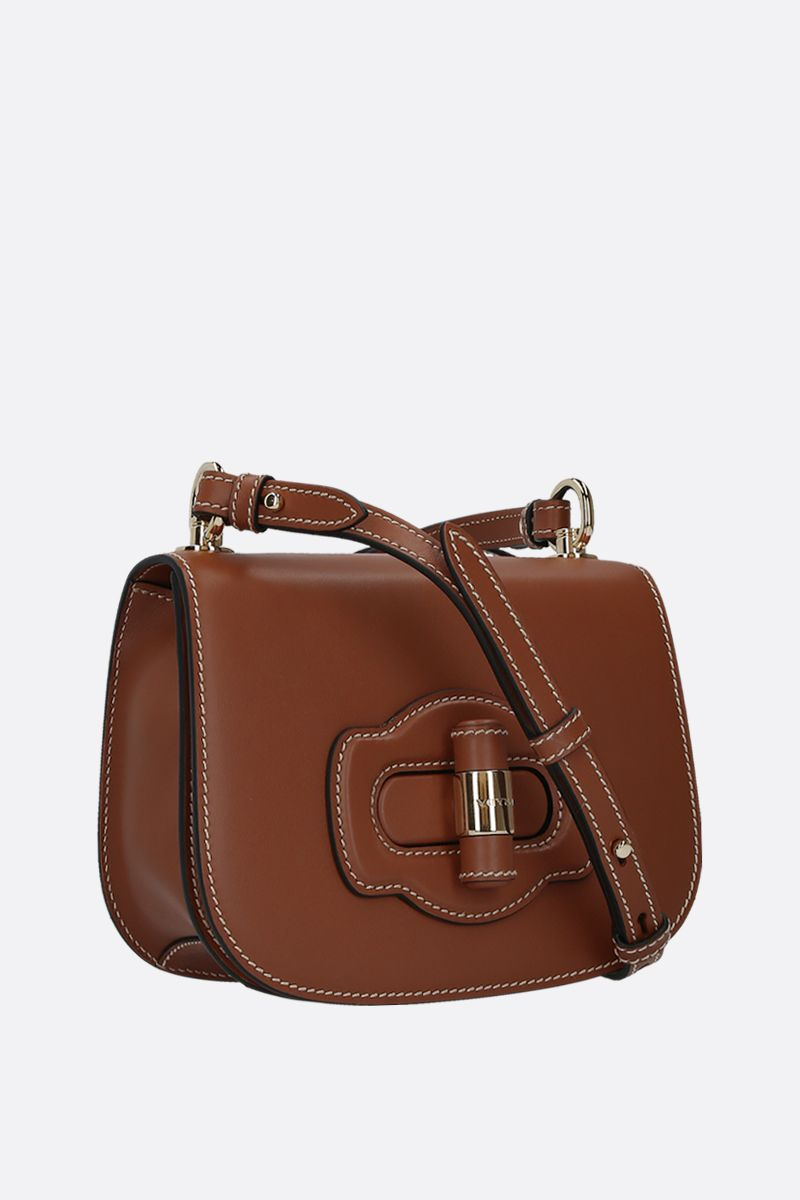 PRADA: City leather shoulder bag Color Brown_2