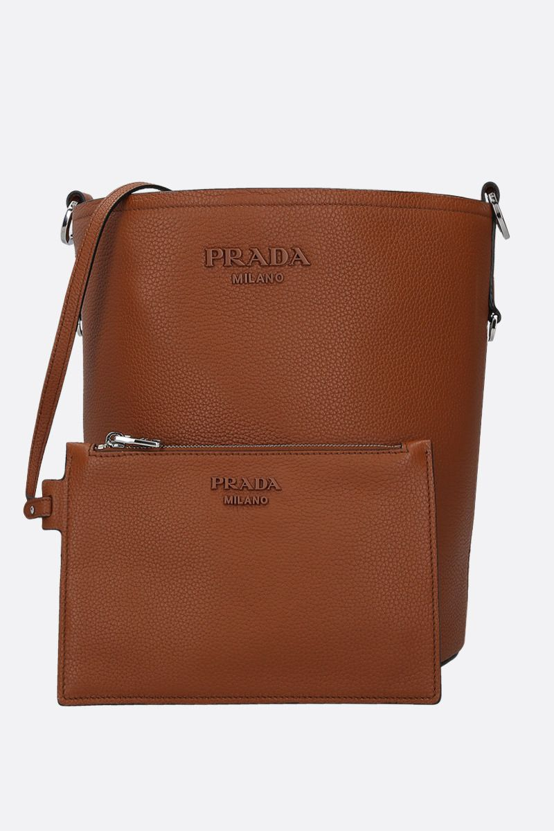 PRADA: grainy leather bucket bag_2