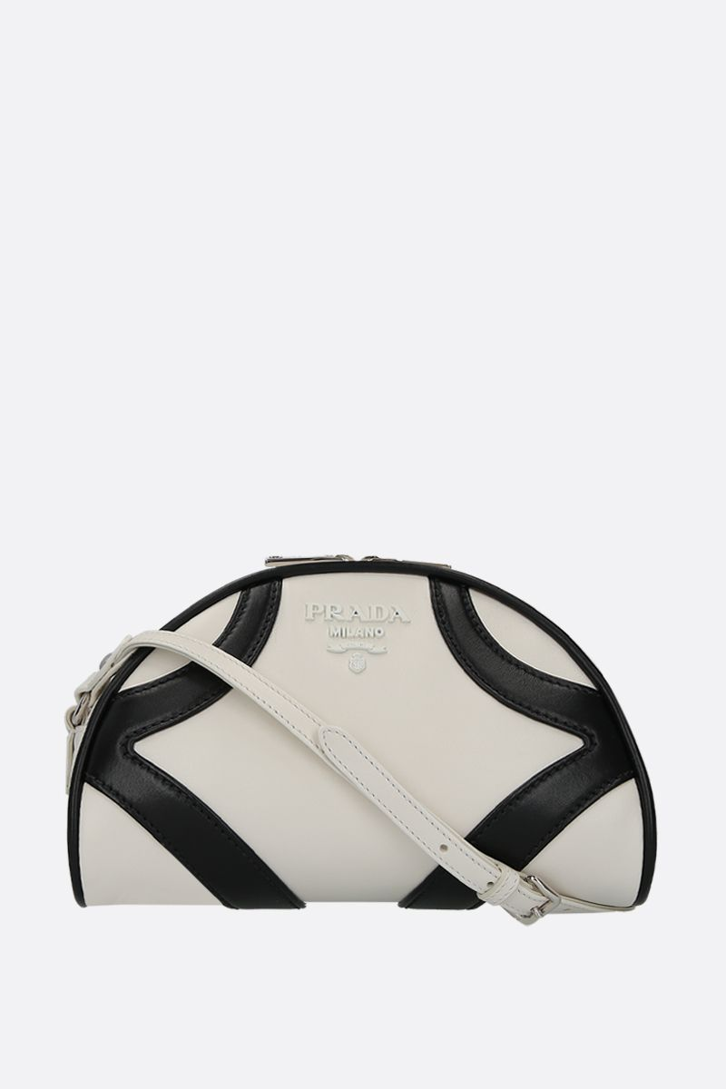 PRADA: Prada Bowling shoulder bag in smooth leather Color White_1