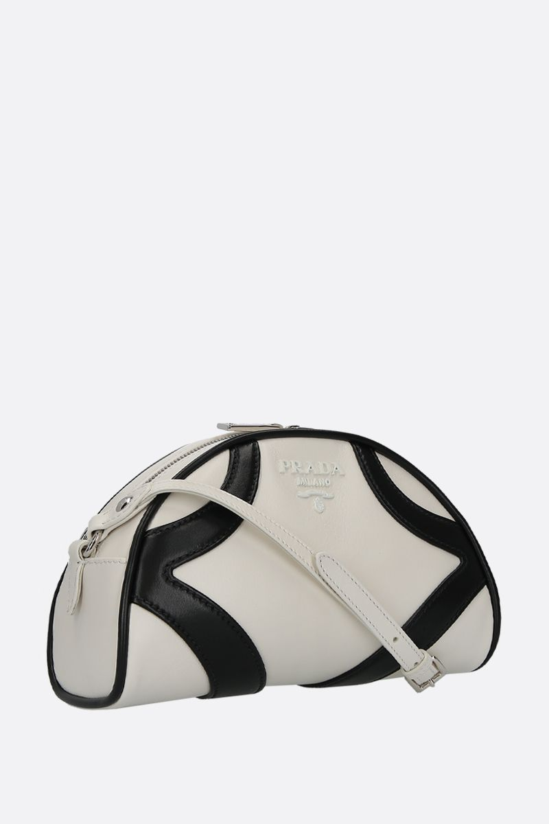 PRADA: Prada Bowling shoulder bag in smooth leather Color White_2