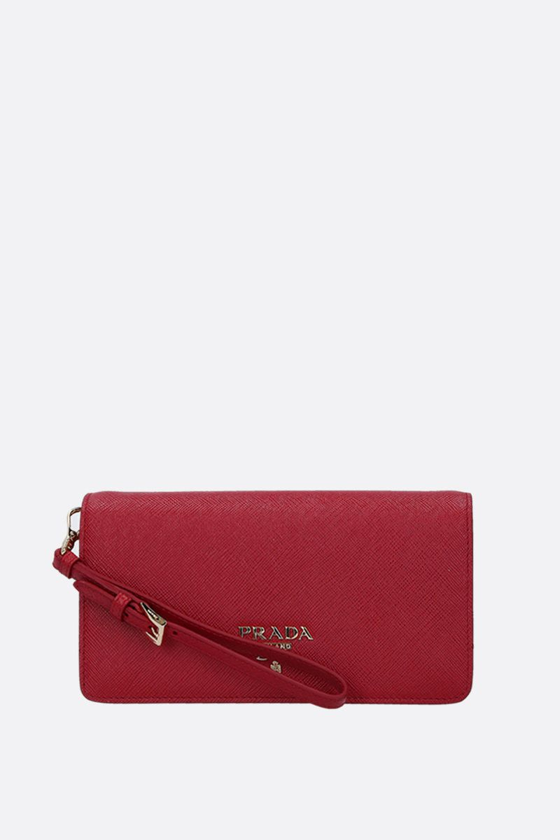 PRADA: Saffiano leather chain wallet Color Red_2