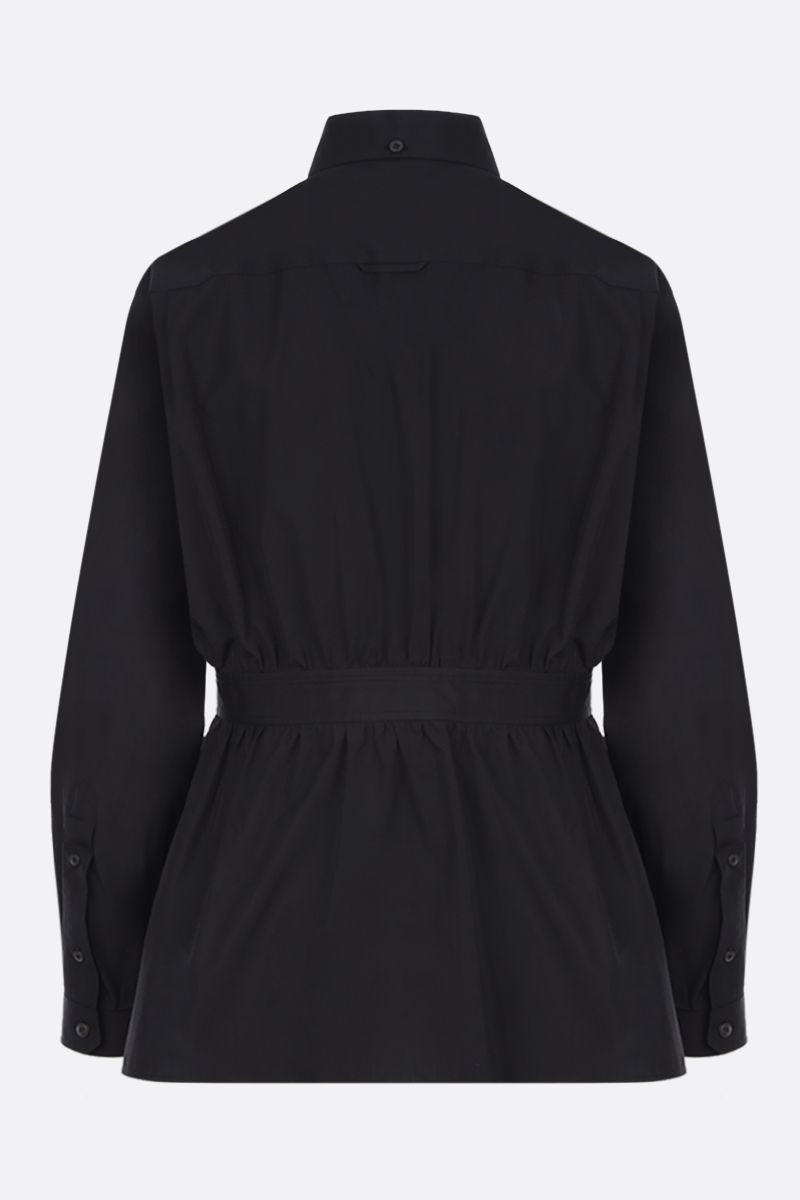 PRADA: poplin shirt with gathered detail Color Black_2