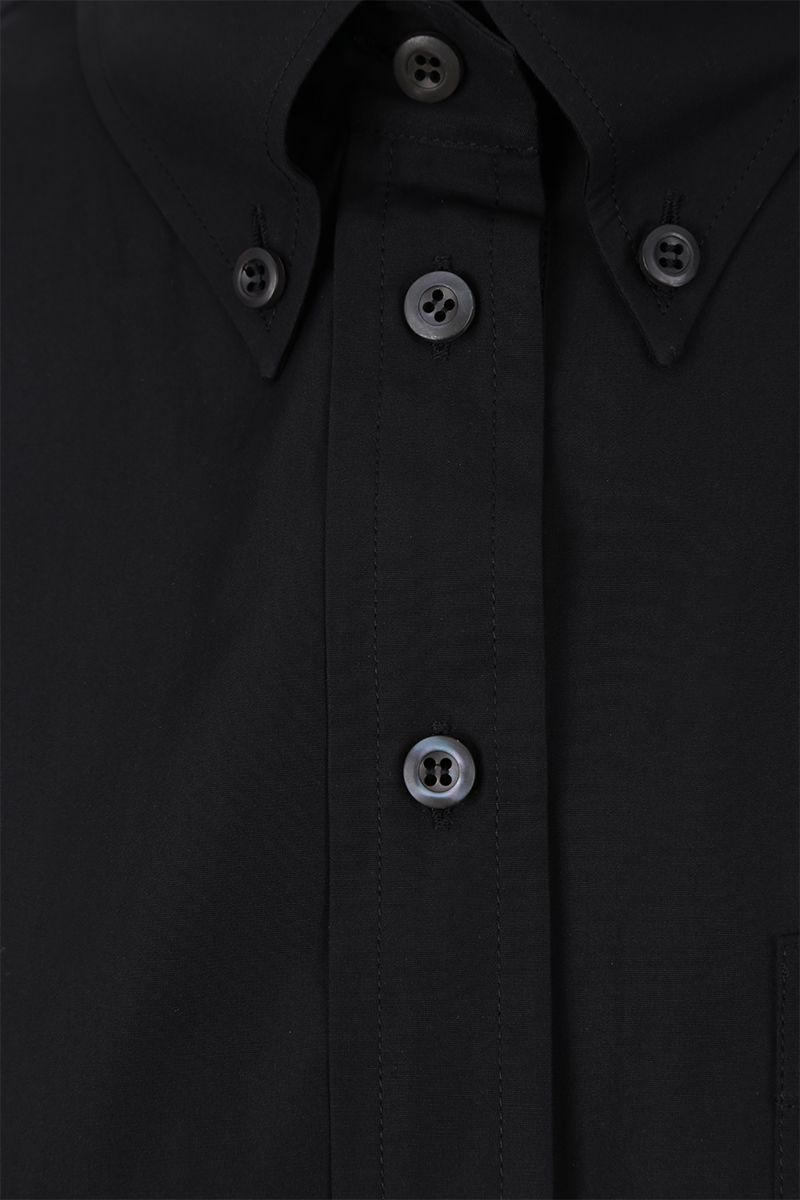 PRADA: poplin shirt with gathered detail Color Black_4