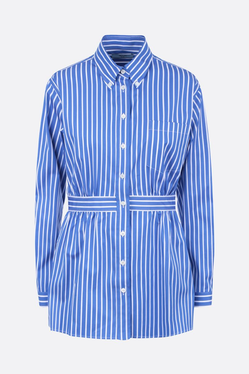 PRADA: striped cotton shirt Color Blue_1