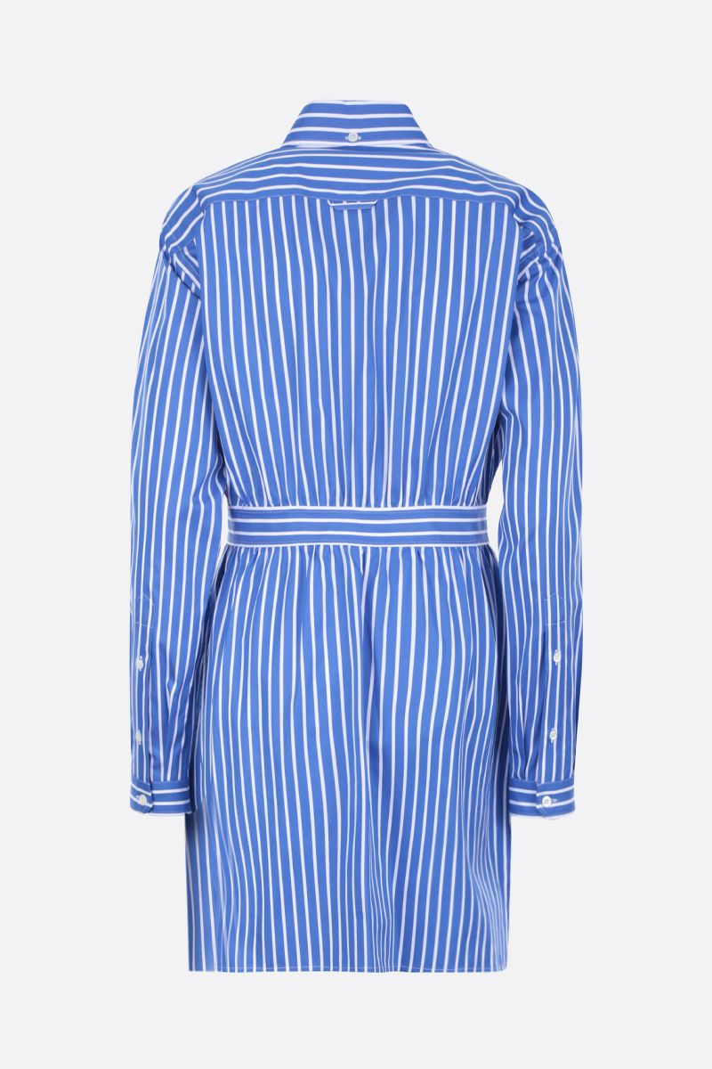 PRADA: striped cotton shirt Color Blue_2