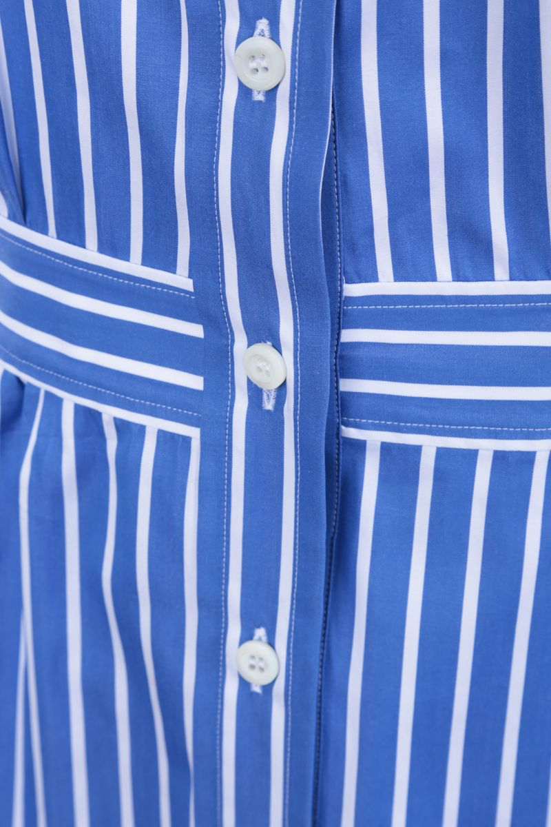 PRADA: striped cotton shirt Color Blue_3
