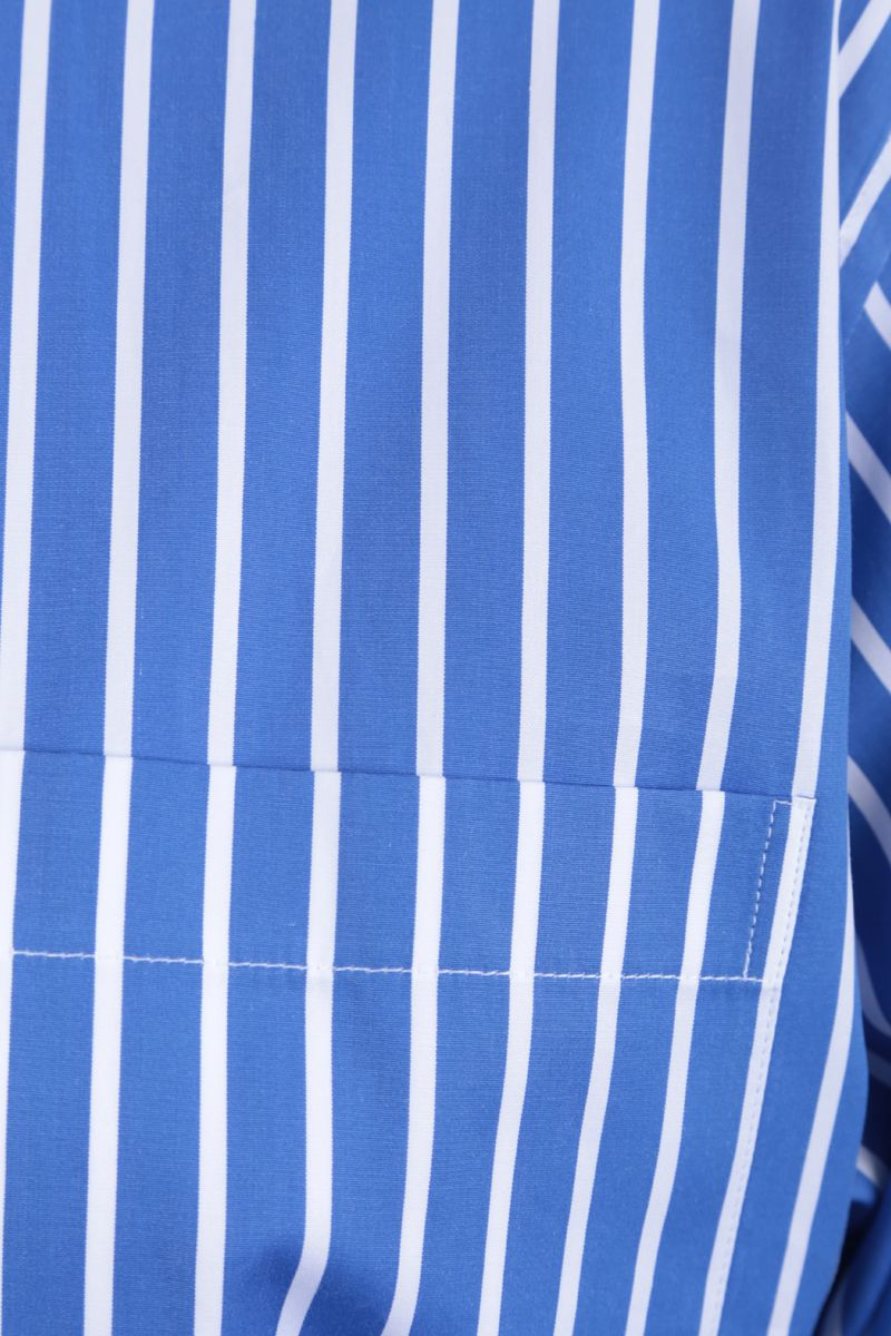 PRADA: striped cotton shirt Color Blue_4