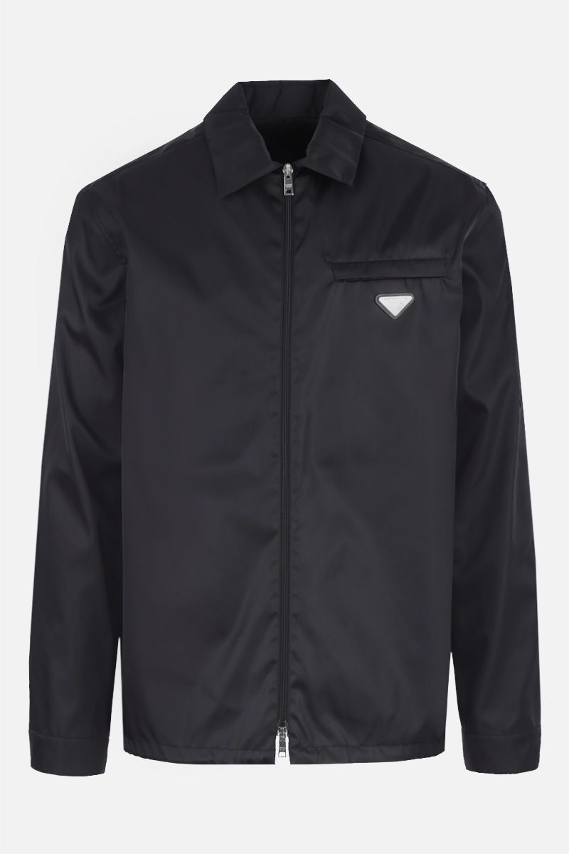 PRADA: gabardine nylon overshirt Color Black_1