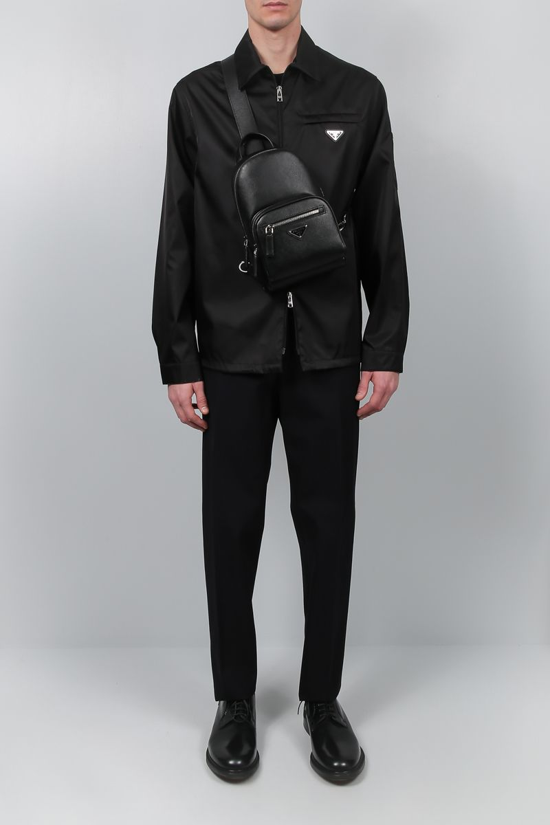 PRADA: gabardine nylon overshirt Color Black_2