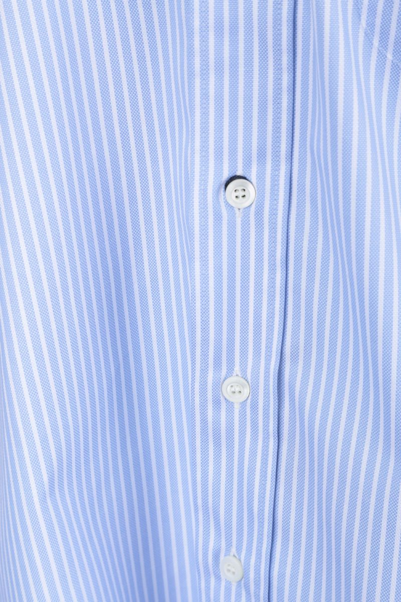 PRADA: Prada Oval print cotton long-fit shirt Color Blue_4