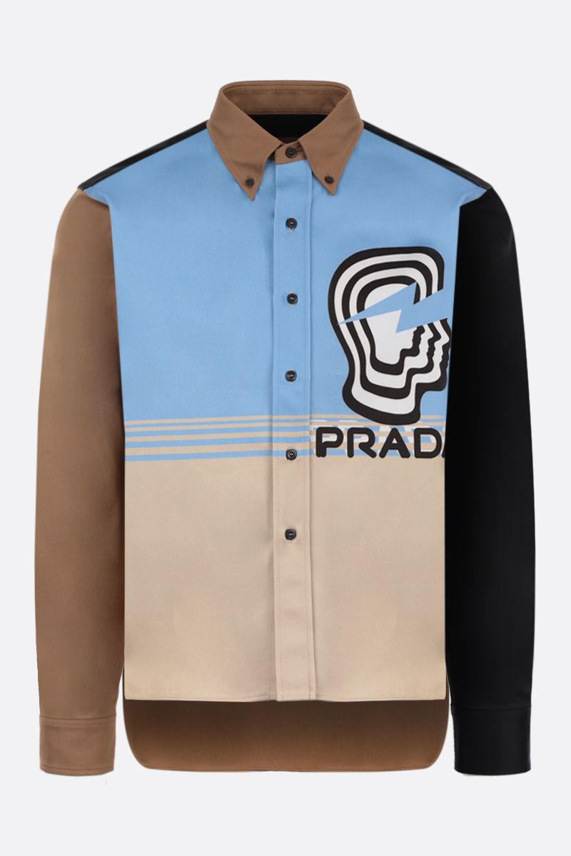 PRADA: Prada Visage printed cotton shirt_1