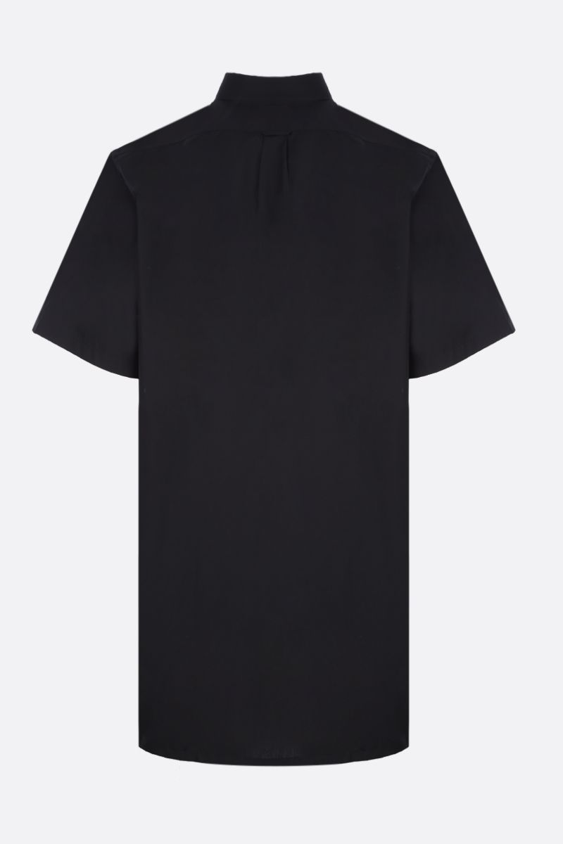 PRADA: oversized short-sleeve shirt in cotton Color Black_2