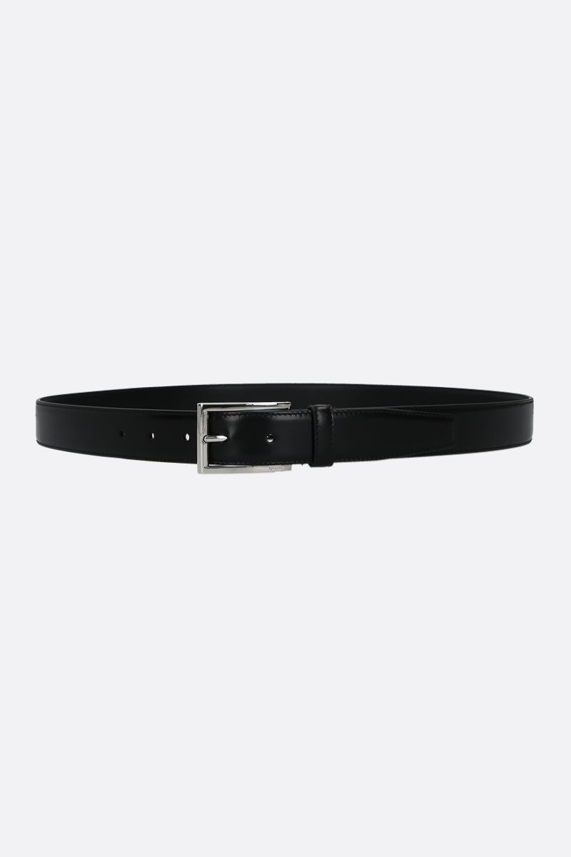 PRADA: shiny leather belt Color Black_1