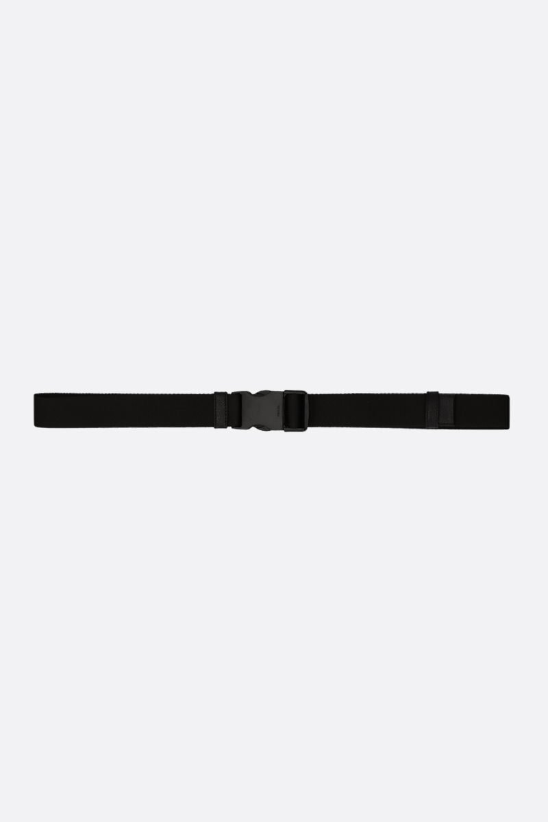 PRADA: tech nylon belt with logoed buckle Color Black_1