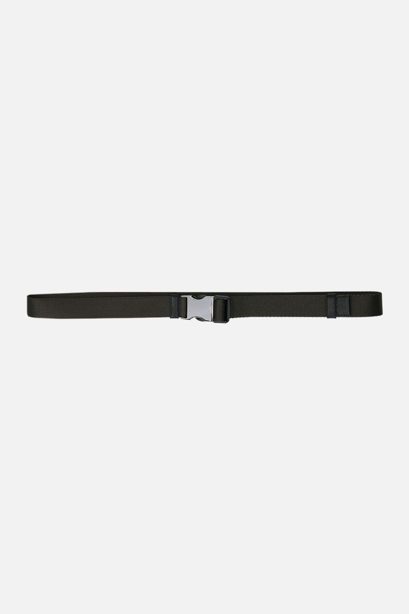 PRADA: logoed buckle tech nylon belt Color Animalier_1