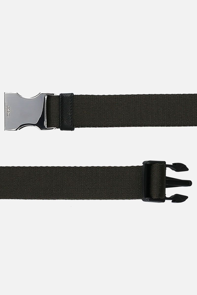 PRADA: logoed buckle tech nylon belt Color Animalier_2