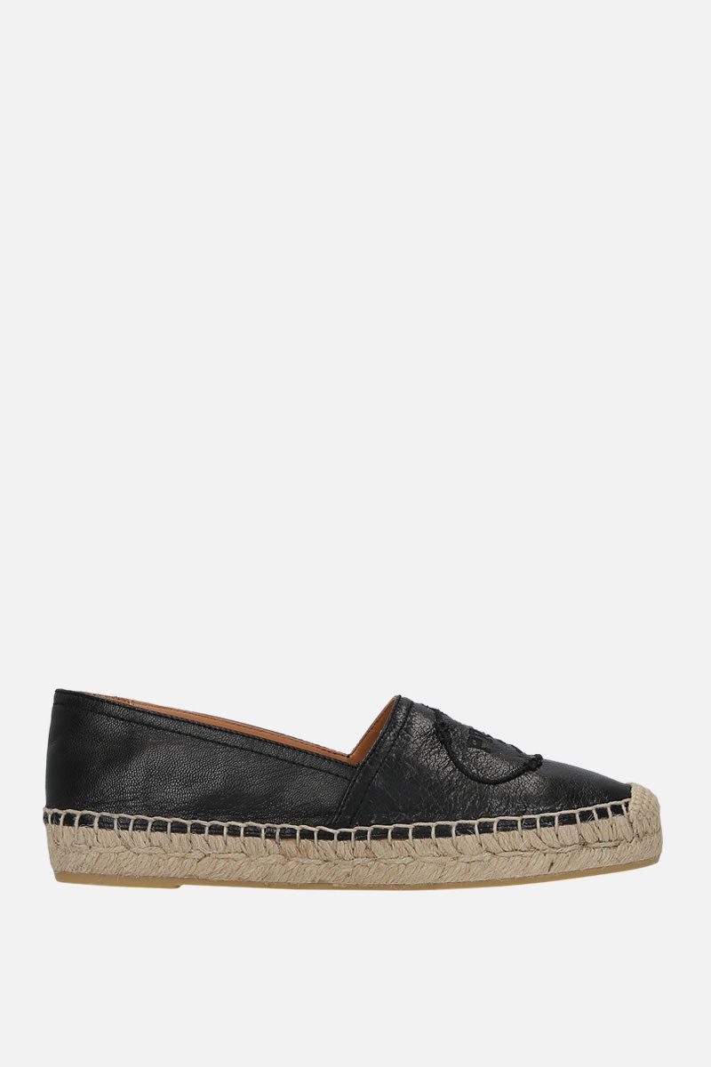 PRADA: Madras leather espadrilles Color Black_1