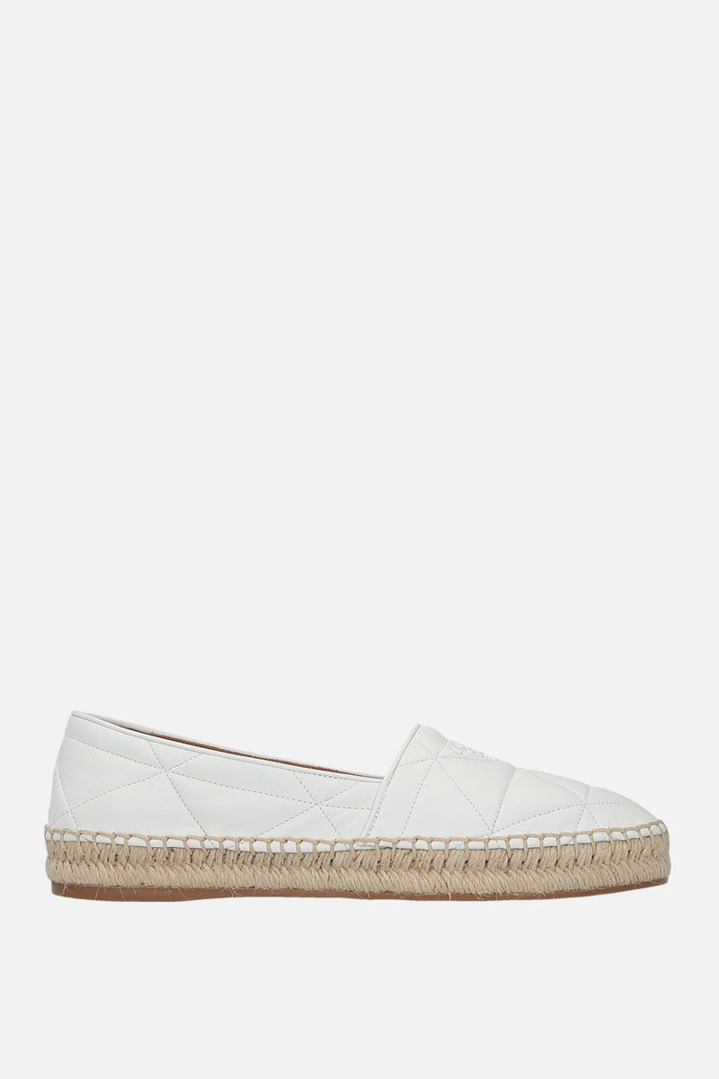PRADA: quilted nappa espadrilles Color White_1